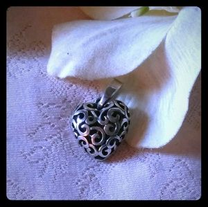 Vintage Filigree Heart Pendant